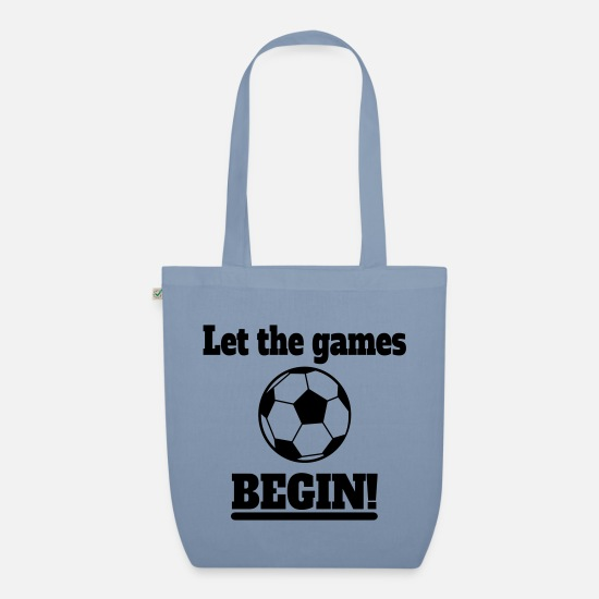 Ball Bags & Backpacks - Football Games - Organic Tote Bag steel blue