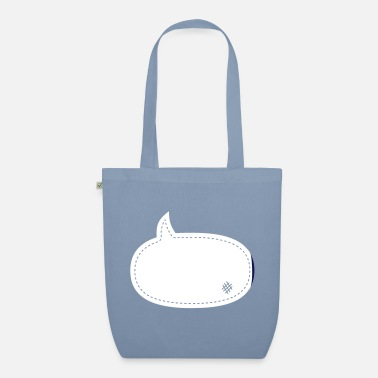 Manga speech balloon patch - Organic Tote Bag