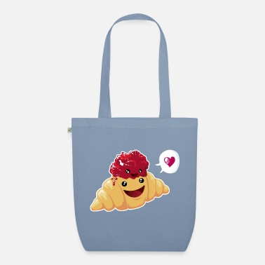 Love Collection V2 Croissant & Marmelade - Borsa di stoffa ecologica