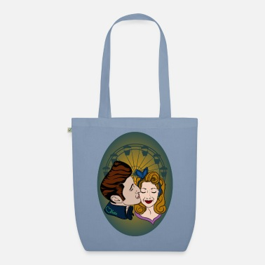 Love Collection V2 Rockabilly-Couple at Ferris Wheel - Borsa di stoffa ecologica