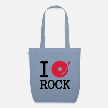 Dj I dj / play / listen to rock - Organic Tote Bag