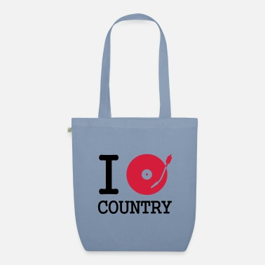 Turntable i dj / play / listen to country - Sac en tissu bio