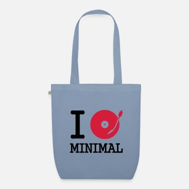 Dj I dj / play / listen to minimal - Organic Tote Bag
