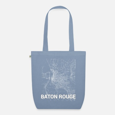 Baton Rouge Baton Rouge city map and streets - Organic Tote Bag