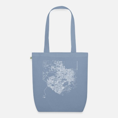 Manaus Minimal Manaus city map and streets - Organic Tote Bag