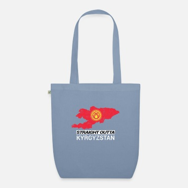 Nationale Straight Outta Kyrgyzstan country map - Bio stoffentas