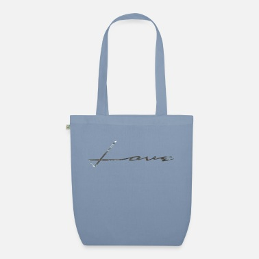Love in silver glitter - Organic Tote Bag