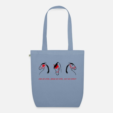 Evil see no evil, hear no evil, say no evil - Organic Tote Bag