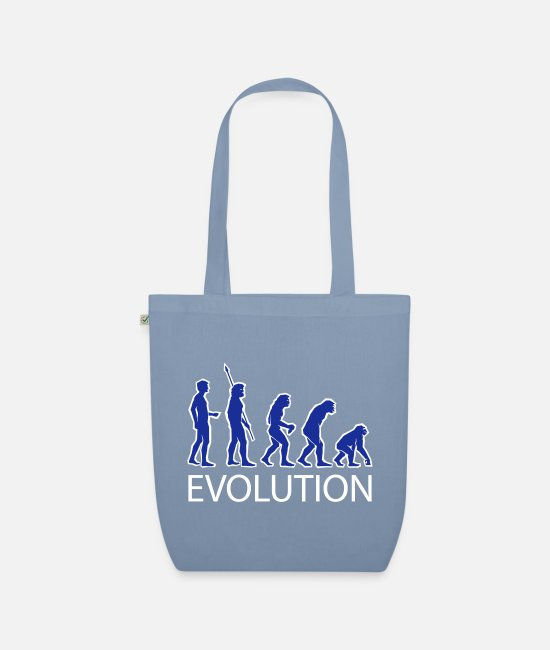 Monkey Bags & Backpacks - evolution - Organic Tote Bag steel blue