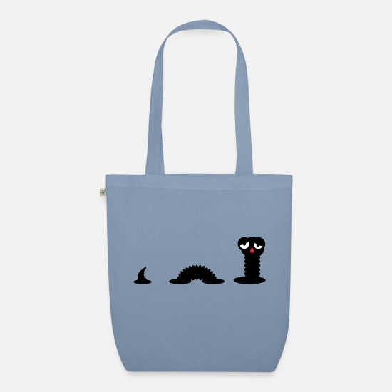Worm Bags & Backpacks - Early Worm / Early Worm (3c) - Organic Tote Bag steel blue