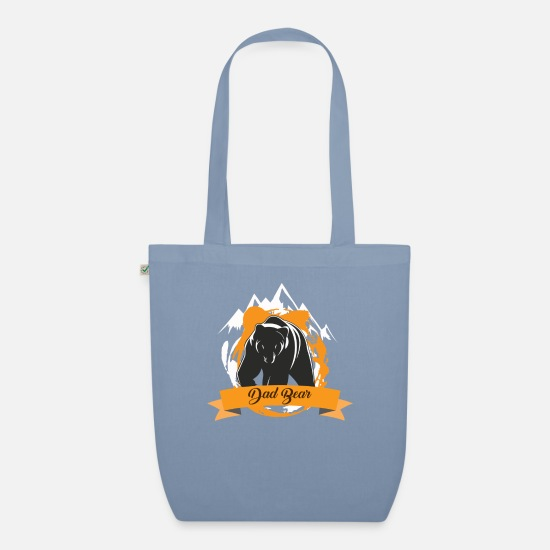 Stag Bags & Backpacks - Dad bear bear fun dad birthday gift daddy - Organic Tote Bag steel blue