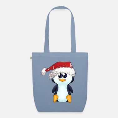 Penguins Pack Puipui the Christmas Penguin - Organic Tote Bag