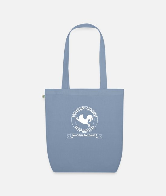 Chaos Bags & Backpacks - Headless Chicken Corporation - Organic Tote Bag steel blue