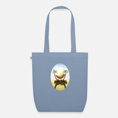 Rotten egg under palm oval cutout - Organic Tote Bag