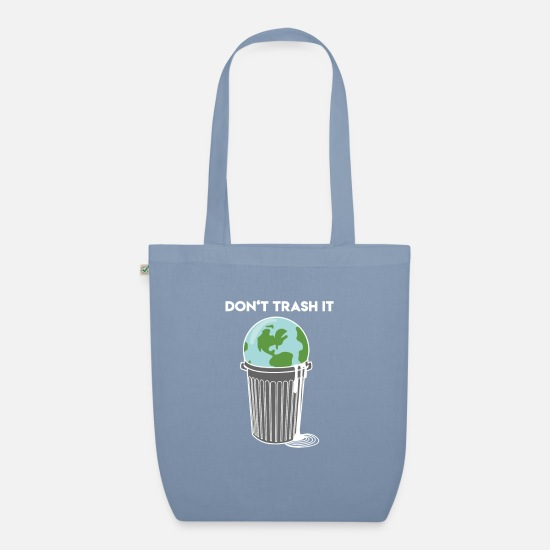 Earth Bags & Backpacks - Don't trash it - Organic Tote Bag steel blue