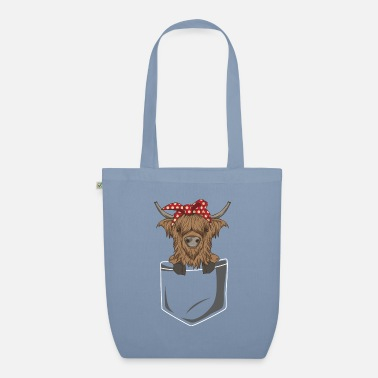 Veefokkers Scottish Highland Cattle Bag Highland Cattle Cow - Bio stoffentas