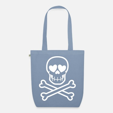 Eros & Thanatos Skull and Crossbones by Cheerful - Organic Tote Bag