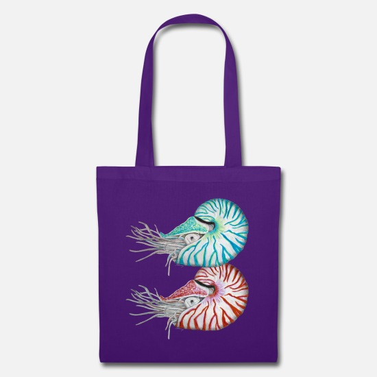 Art Bags & Backpacks - Nautilus light blue hellblau - Tote Bag purple
