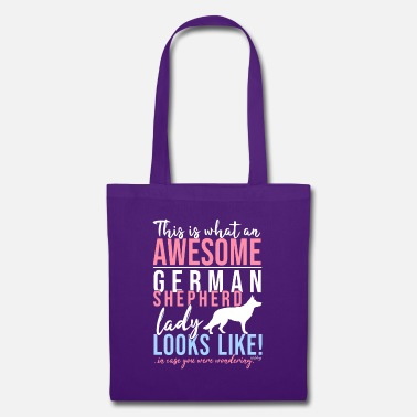 Dog GSD Awesome Lady SH - Tote Bag