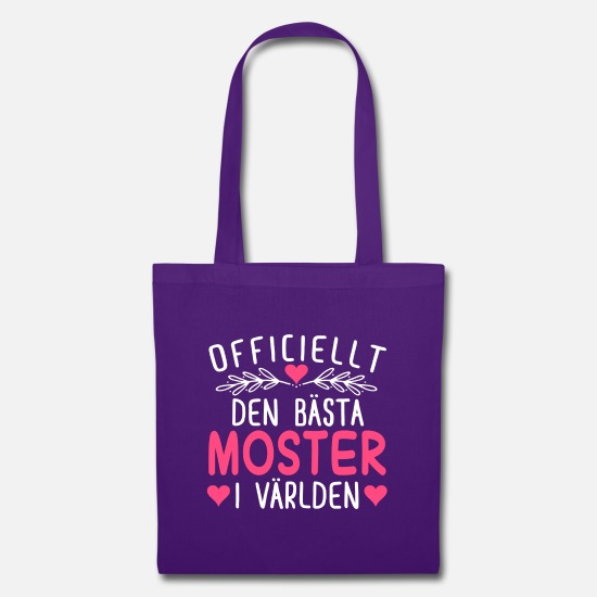 Aunt Bags & Backpacks - Officially The Best Aunt In The World - Tote Bag purple