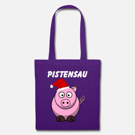 Gift Idea Bags & Backpacks - Pistensau Party Apres Ski Snowboard Gift 0230 - Tote Bag purple