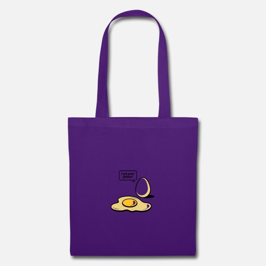 Egg Bags & Backpacks - Fried egg, I am your father! - Tote Bag purple