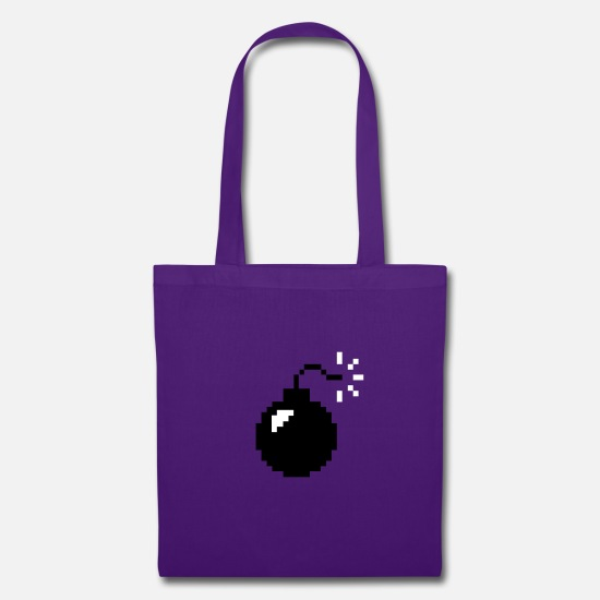 Sex Bomb Bags & Backpacks - 8-bit Bomb - Tote Bag purple