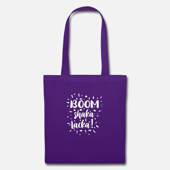 Gift Idea Bags & Backpacks - Boom Shaka Laka - Tote Bag purple