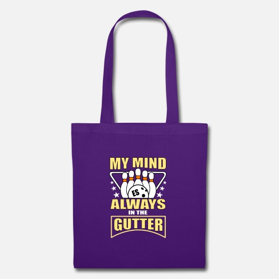 Always Bags & Backpacks - my mind always in the gutter - Tote Bag purple