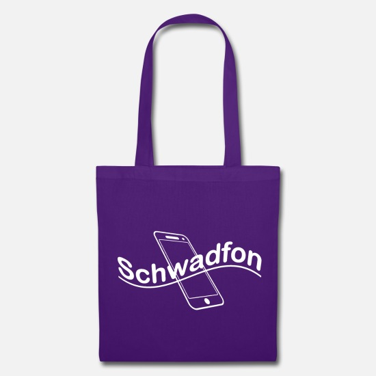 Smartphone Bags & Backpacks - Swath white - Tote Bag purple