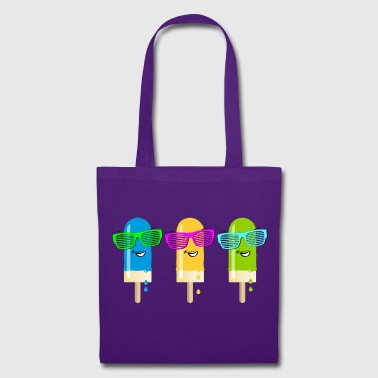 Eis am Stiel ice lolly ice cream Sommer popsicle - Stoffbeutel
