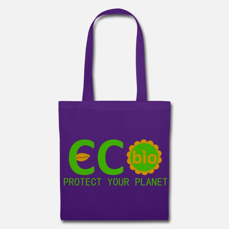 Eco Bags & Backpacks - eco bio protect your planet - Tote Bag purple