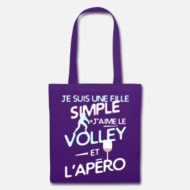 Volley-ball Féminin Volley ball - une fille simple - Tote Bag