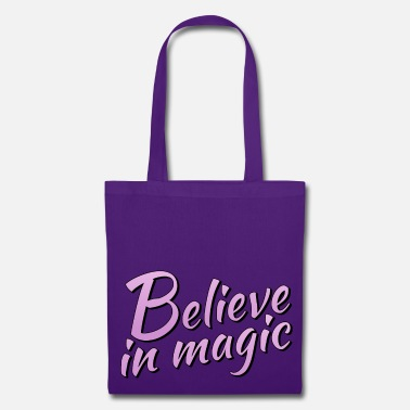 Lilac Believe in magic logo in lilac - Tote Bag