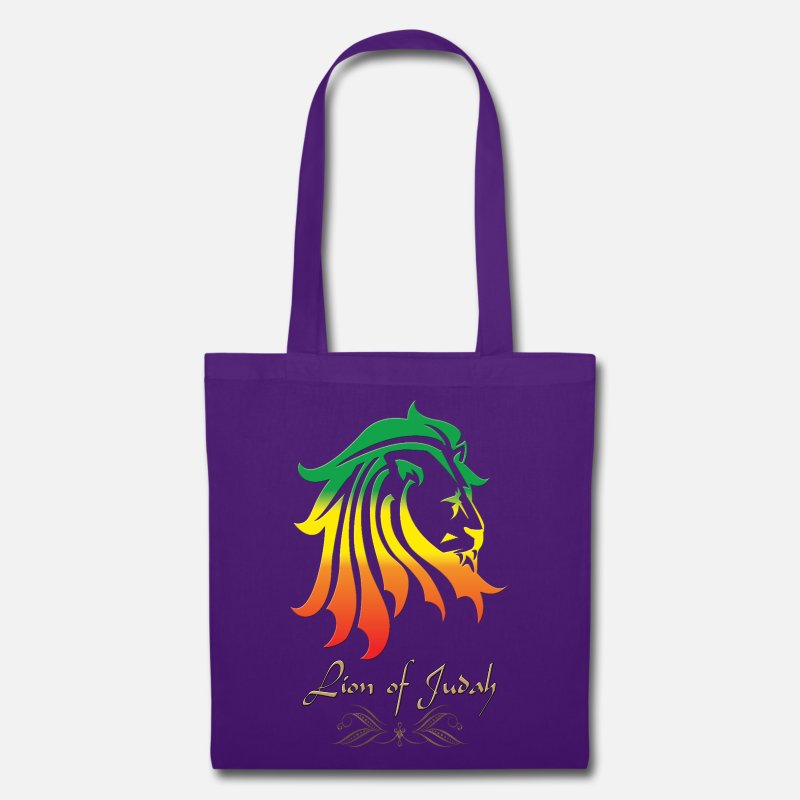 Dreadlocks Bags & Backpacks - Lion-of-judah.png - Tote Bag purple