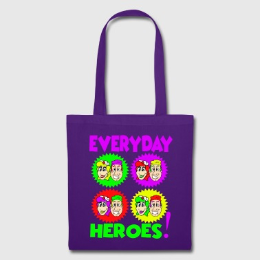 Everyday Heroes POP ART - Borsa di stoffa
