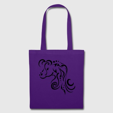 Jument, design tribal épuré - Tote Bag