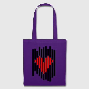 Heart pixel - Tote Bag