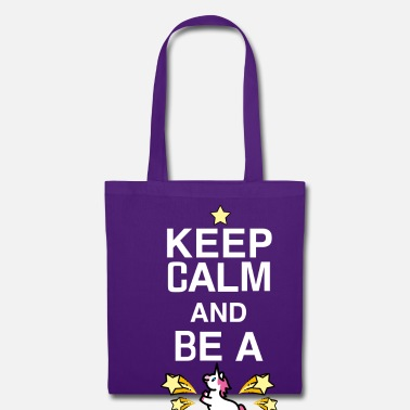 Unicorno SmileyWorld Keep Calm And Be A Unicorn - Borsa di stoffa