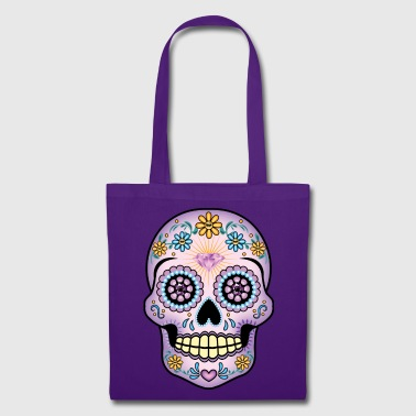 Sugar Skull - Purple - Tote Bag