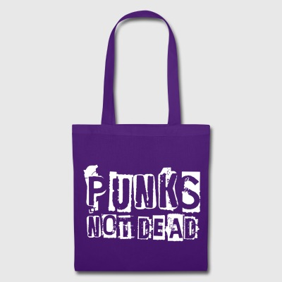 PUNKS NOT DEAD White - Tote Bag