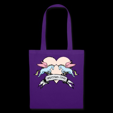 Unicorn jump with heart - Tote Bag