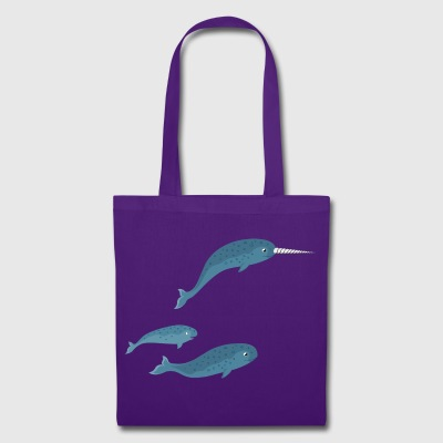 narwal family - Tote Bag