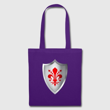 Shield coat of arms with lily of Florence - Tote Bag