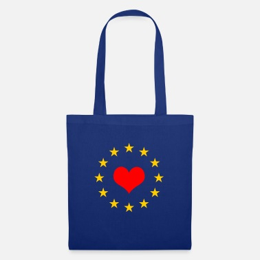 Grexit EU star red heart European Union Europe Euro - Tote Bag