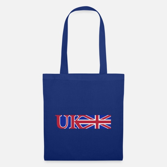 Flag Bags & Backpacks - uk_union_jack_3c - Tote Bag royal blue