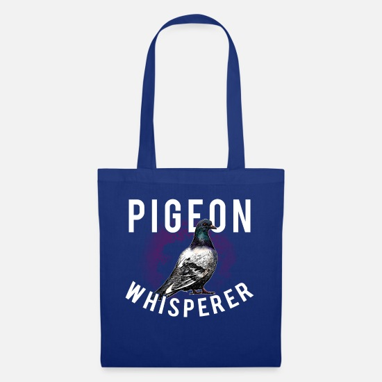 Pigeon Bags & Backpacks - Pigeon Whisperer pigeon pigeon - Tote Bag royal blue