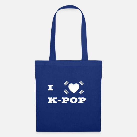 Love Bags & Backpacks - I Love KPop KDrama Seoul Korea Namsan Heart - Tote Bag royal blue