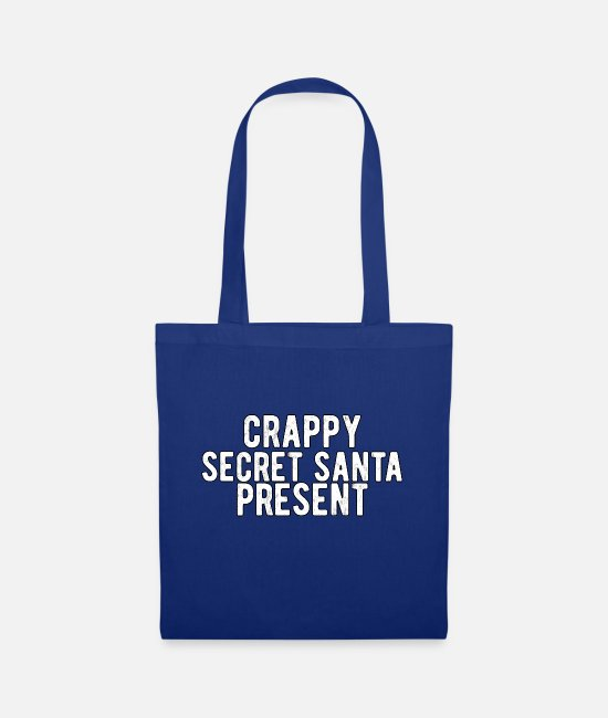Secret Society Bags & Backpacks - Crappy Secret Santa Present - Tote Bag royal blue