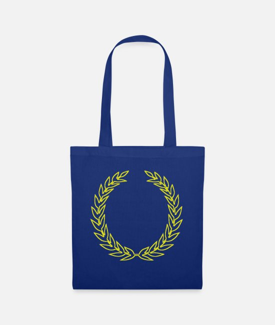 Wreath Bags & Backpacks - Laurel wreath - Tote Bag royal blue